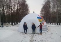 Надувная «юрта» Ксении Собчак в Рязани была, но почему-то ее мало кто увидел